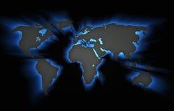 τρισδιάστατος-Illyustration ήπειροι σε ένα μαύρο υπόβαθρο ελεύθερη απεικόνιση δικαιώματος