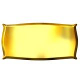 τρισδιάστατο έμβλημα χρυσό διανυσματική απεικόνιση