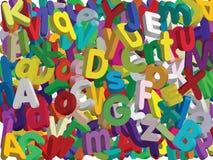 τρισδιάστατο αλφάβητο - διάνυσμα Στοκ Φωτογραφία