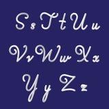 τρισδιάστατο αλφάβητο και πηγή που τίθενται με τα χειρόγραφα γράμματα s, τ, u, β, W, Χ, Υ, ζ Σύγχρονος φουτουριστικός χαρακτήρας  διανυσματική απεικόνιση