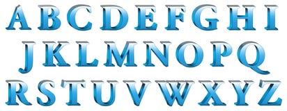 τρισδιάστατο αλφάβητο Στοκ Εικόνες