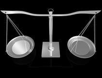 τρισδιάστατο ασήμι ισορρ& Στοκ εικόνα με δικαίωμα ελεύθερης χρήσης