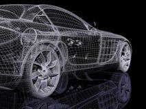 τρισδιάστατο αυτοκίνητ&omicro Στοκ Εικόνες
