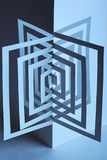 τρισδιάστατο αφηρημένο έγ&gamm διανυσματική απεικόνιση