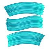 τρισδιάστατο αφηρημένο μπλε κτύπημα βουρτσών χρωμάτων Σύνολο ζωηρόχρωμου υγρού διανυσματική απεικόνιση