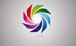 τρισδιάστατο αφηρημένο σφαιρών στρογγυλευμένο λογότυπο Globle κυκλικό λογότυπων Template διάνυσμα συμβόλων Modern Company λογότυπ στοκ φωτογραφία με δικαίωμα ελεύθερης χρήσης
