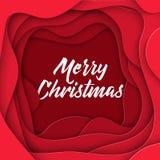 τρισδιάστατο αφηρημένο ύφος εγγράφου Χαρούμενα Χριστούγεννας, σχεδιάγραμμα σχεδίου για τις επιχειρησιακές παρουσιάσεις, ιπτάμενα, ελεύθερη απεικόνιση δικαιώματος