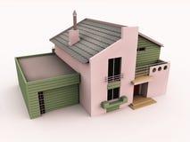 τρισδιάστατο βασικό σπίτι διανυσματική απεικόνιση
