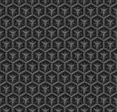 τρισδιάστατο βιομηχανικό μαύρο διανυσματικό υπόβαθρο σχεδίων διαμαντιών άνευ ραφής ελεύθερη απεικόνιση δικαιώματος