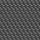 Τρισδιάστατο γκρίζο άνευ ραφής σχέδιο τριγώνων διανυσματική απεικόνιση