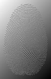 τρισδιάστατο γκρίζο ελαιούχο δακτυλικό αποτύπωμα στο μέταλλο Στοκ Εικόνες