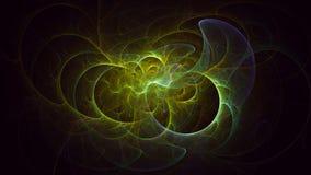 τρισδιάστατο δίνοντας απομονωμένο περίληψη fractal φως στο μαύρο υπόβαθρο στοκ φωτογραφίες με δικαίωμα ελεύθερης χρήσης