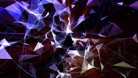 τρισδιάστατο δίνοντας αφηρημένο υπόβαθρο βάσει του πλέγματος Οι τεχνολογικές επιφάνειες συνδυάζονται φουτουριστικό σε έναν γεωμετ διανυσματική απεικόνιση