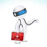 τρισδιάστατο διάνυσμα γιατρών διανυσματική απεικόνιση