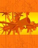 τρισδιάστατο διάνυσμα στροβίλων techno Στοκ Εικόνες