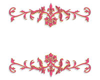 τρισδιάστατο διακοσμητικό ροζ σχεδίου συνόρων Στοκ Φωτογραφίες