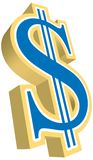 τρισδιάστατο δολάριο Στοκ φωτογραφία με δικαίωμα ελεύθερης χρήσης