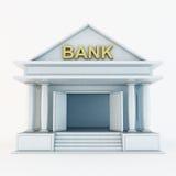 Τρισδιάστατο εικονίδιο τράπεζας Στοκ Εικόνα