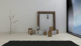 τρισδιάστατο εσωτερικό καθιστικό εικόνας Στοκ Φωτογραφίες