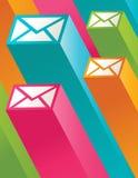τρισδιάστατο ζωηρόχρωμο ταχυδρομείο εικονιδίων ελεύθερη απεικόνιση δικαιώματος