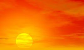 τρισδιάστατο ηλιοβασίλεμα Στοκ Εικόνα