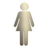 τρισδιάστατο θηλυκό χρυσό σύμβολο διανυσματική απεικόνιση