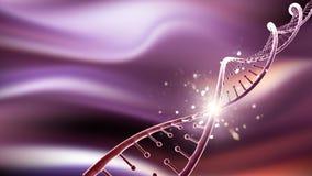 τρισδιάστατο ιατρικό υπόβαθρο με το αφηρημένο σκέλος DNA ελεύθερη απεικόνιση δικαιώματος