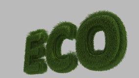 τρισδιάστατο κείμενο eco Στοκ Φωτογραφίες