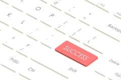 τρισδιάστατο κουμπί επιτυχίας απόδοσης αφηρημένο στο άσπρο πληκτρολόγιο, επιχειρησιακή επιτυχία Στοκ εικόνες με δικαίωμα ελεύθερης χρήσης
