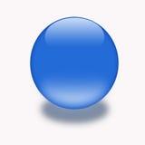 τρισδιάστατο κουμπί aqua Στοκ Φωτογραφίες