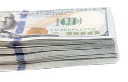 τρισδιάστατο λευκό εικόνας δολαρίων ανασκόπησης Στοκ φωτογραφία με δικαίωμα ελεύθερης χρήσης
