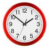 τρισδιάστατο λευκό τοίχων ανασκόπησης απομονωμένο ρολόι γίνοντα Τα δέκα έως δύο Στοκ εικόνες με δικαίωμα ελεύθερης χρήσης