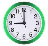 τρισδιάστατο λευκό τοίχων ανασκόπησης απομονωμένο ρολόι γίνοντα εννέα η ώρα Στοκ Φωτογραφίες