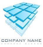 τρισδιάστατο λογότυπο επιχείρησης διανυσματική απεικόνιση