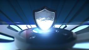 τρισδιάστατο λογότυπο υποβάθρου με μια κινητή πλατφόρμα απόθεμα βίντεο