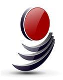 τρισδιάστατο λογότυπο Στοκ φωτογραφία με δικαίωμα ελεύθερης χρήσης