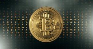 τρισδιάστατο λογότυπο bitcoin απόθεμα βίντεο