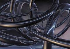 τρισδιάστατο μέταλλο ανασκόπησης που στρίβεται Στοκ εικόνα με δικαίωμα ελεύθερης χρήσης