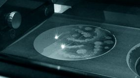τρισδιάστατο μέταλλο εκτύπωσης εκτυπωτών Σύγχρονες πρόσθετες τεχνολογίες απόθεμα βίντεο