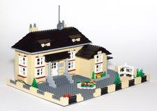 τρισδιάστατο μοντέλο εξοχικών σπιτιών Στοκ εικόνες με δικαίωμα ελεύθερης χρήσης