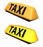 Τρισδιάστατο μοντέλο συμβόλων ταξί Στοκ Φωτογραφία