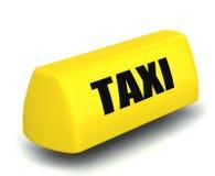 τρισδιάστατο μοντέλο του συμβόλου ταξί διανυσματική απεικόνιση