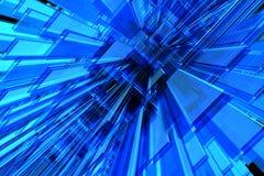 τρισδιάστατο μπλε ανασκό Στοκ εικόνες με δικαίωμα ελεύθερης χρήσης