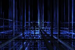 τρισδιάστατο μπλε διάστη&m Στοκ Εικόνα