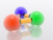 τρισδιάστατο μόριο Στοκ Φωτογραφίες