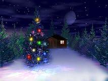 τρισδιάστατο νέο έτος Χρι&sig Στοκ Εικόνα