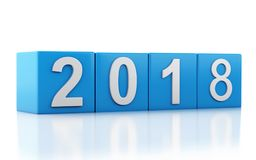 τρισδιάστατο νέο έτος 2018 Στοκ Εικόνες