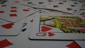 τρισδιάστατο παιχνίδι καρτών ένα στοκ εικόνες