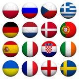 τρισδιάστατο ποδόσφαιρο προτύπων σημαιών σφαιρών Στοκ φωτογραφία με δικαίωμα ελεύθερης χρήσης