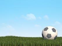 τρισδιάστατο ποδόσφαιρ&omicron Διανυσματική απεικόνιση